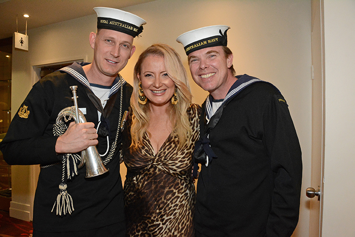 Able Seaman Darren Skaar, Bridget Daley, Able Seaman Jason Rousell-web